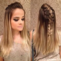 Cool Hairstyles For Girls, Formal Hairstyles, Diy Hairstyles, Faux Hawk Braid, Hair Upstyles, Glam Doll, How To Make Hair, Braid Styles, Fall Hair