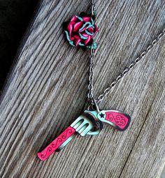 tattoo gun necklace