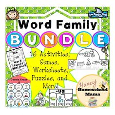 Huge Word Family Bundle Deal! Get 16 Items For The Cost of 4!
