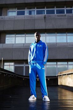 Stormzy for Adidas Matching tracksuit top and bottom. Film Shot, Urban Photography, Fashion Photography, Techno, British Rappers, Grime Artists, Urban Fashion, Mens Fashion, Street Fashion