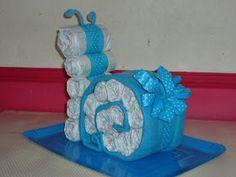Snail diaper cake!