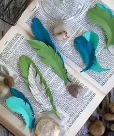 Paper feathers for unique gift wrapping ideas
