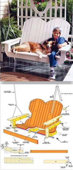 Adirondack Porch Swing Plans - Outdoor Furniture Plans and Projects | WoodArchivist.com #woodworkingtips #adirondackoutdoorfurnitureplans