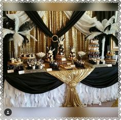 Ideas party decorations gatsby sweet 16 for 2019 - Party Mottos - Great Gatsby Motto, Great Gatsby Wedding, Sparkle Wedding, Trendy Wedding, Great Gatsby Cake, Great Gatsby Themed Party, 1920s Wedding, Diy Wedding, Masquerade Party Decorations