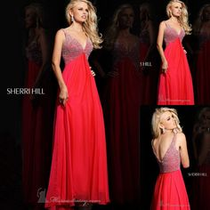 V Neck Spaghetti Strap Beading Open Back Red Chiffon Sexy Eveneing Gown Simple Prom Dresses Long New Arrival 2013 $189.00