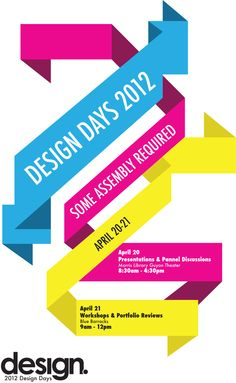 Design Days Promotional Poster via Behance