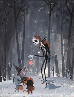 Joey Chou Disney The Nightmare Before Christmas Art Disney, Disney Kunst, Disney Love, Art Tim Burton, Tim Burton Kunst, Image Halloween, Halloween Art, Holidays Halloween, Happy Halloween