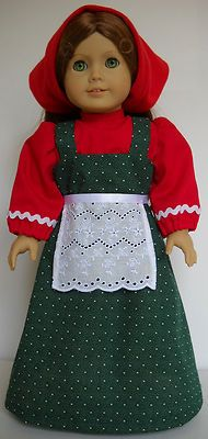"Fits American Girl 18"" doll clothes Russia Russian folk peasant H (COSTUME ONLY"