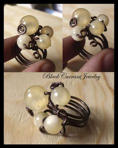 Napkin Rings Yellow Berries Ring by blackcurrantjewelry