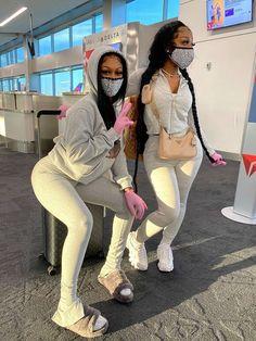 Matching Outfits Best Friend, Best Friend Outfits, Cute Swag Outfits, Girl Outfits, Fashion Outfits, Twin Outfits, Black Girl Fashion, Teen Fashion, Pretty Black Girls