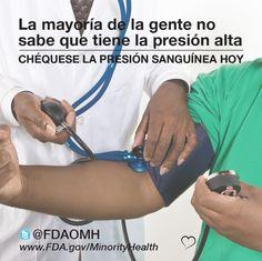 Chéquese la presión sanguínea regularmente. #corazón #presiónalta #salud