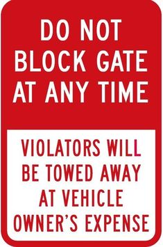 Do Not Park In Front Of Dumpster Aluminum METAL Sign