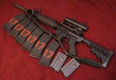 Typical match load out. Six 30 rd Pmags and 2 20 rd Colt mags. 220 rds