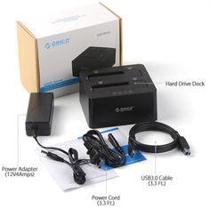 """Orico 6629US3-C 6629US3 HDD docking Dual Bay USB 3.0 + CLONE (harddisk 2,5"""" & 3,5"""") - elevenia"""
