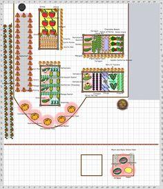 2015 Garden Plan - Summer Vegtable Garden Because when I can't garden I think about gardening!!