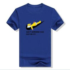 The Simpsons Nike Parody Can't Someone else just do it Unisex Cotton tee t-shirt
