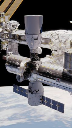 "Space Frontier astronauticalaspirations: ""realspaceships: ""Two Dragons by brickmack "" Any wagers on when this might happen? Nasa Space Program, Space Engineers, Air Space, International Space Station, Space And Astronomy, Earth From Space, Space Shuttle, Space Travel, Space Exploration"
