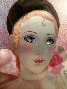 Stunning Iridescent Mira Fujita Pierrot Print