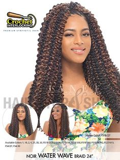 Janet Collection Noir Water Wave Braid 24