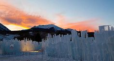 In Silverthorne, Colo., Brent Christensen has created a frosty, fairy-tale-like landscape out of icicles. His Ice Castles, as they are called, currently rise 15 to 20 feet and stretch across about an acre of land. At their height, they'll reach 30 to 40 feet high and together weigh about 10,000 tons.