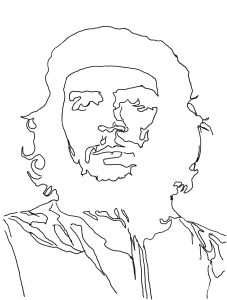 che guevara stencil for home wall interior decor not a decal famous face reusable stencil. Black Bedroom Furniture Sets. Home Design Ideas