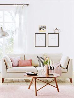 Eine neue Einrichtung für das Wohnzimmer in einem elegant-femininen Stil – das muss kein Traum bleiben. Hier kommt für jeden Geldbeutel die perfekte Lösung.