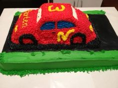 Front View Of 3 Year Old Boys Birthday Cake JeannieCakes