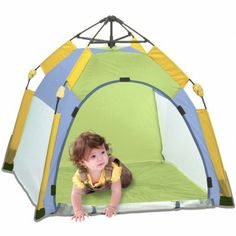 The Pacific Play Tents One Touch Lil Nursery Tent creates a protected, safe play area for baby.  www.rightstart.com