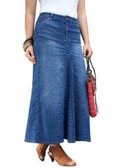 piniful.com plus size denim skirt (12) #plussizefashion