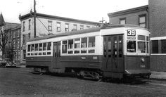 PHILA. NEARSIDE CAR ON RT.39 LINE CONVERTED TO BUS 2-29-56.