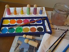 some tips on painting your own peg dolls ~ from We Bloom Here