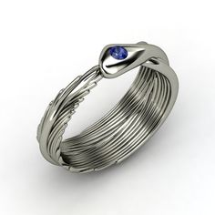 Round Sapphire  Birds of a Feather Ring