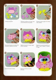 Muñecos para dedos en goma eva - Revistas de manualidades Gratis