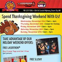 Spend Thanksgiving Weekend with Planet Maze with these cool specials...  #oceancitycool
