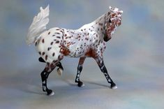 Sadie Shoofly resin sculpted by Lynn Fraley and painted to a bay leopard appaloosa by Myla Pearce, proudly owned by Dream Walker Stables
