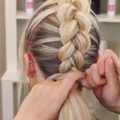 46 Glam Updo Ideas For Long Hair & Tutorials - Coiffure Sites Lob Hairstyle, Pretty Hairstyles, Girl Hairstyles, Ombré Hair, Hair Creations, Hair Videos, Gorgeous Hair, Hair Hacks, Hair Inspiration