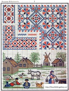ru / Photo # 2 - The second album of needlework - logopedd Cross Stitch Geometric, Cross Stitch Borders, Cross Stitch Samplers, Cross Stitch Charts, Cross Stitching, Cross Stitch Patterns, Russian Embroidery, Vintage Embroidery, Embroidery Art