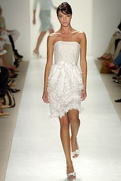 1000 images about short wedding dresses on pinterest for Oscar de la renta short wedding dress