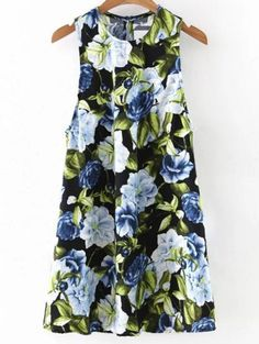 SHARE & Get it FREE | Floral Round Neck Mini Dress - BlackFor Fashion Lovers only:80,000+ Items • New Arrivals Daily Join Zaful: Get YOUR $50 NOW!