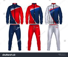 sport track suit design template,jacket and trousers vector illustration, Polo Shirt Design, Tee Design, Motif Polo, Sports Jersey Design, Fashion Design Template, Track Suit Men, Sporty Outfits, Jacket Pattern, Sportswear