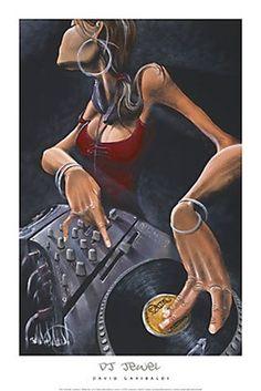 DJ Jewel David Garibaldi G414  Paper: 36 x 24 Image: 31 x 20 1/2   Retail $32.00