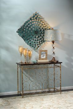 Great entry way table #Kirklands #outoftheblue