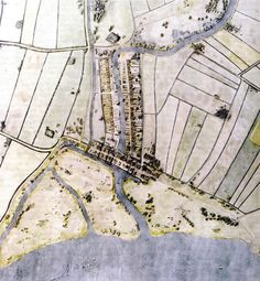 De kaart van D. Wijnand van Rotterdam en omgeving dateert uit 1340 en geeft een goed beeld van de stad en de omgeving. Waterwegen, smalle dijken met daarop paden in gebruik door voetvolk, paarden en karren.