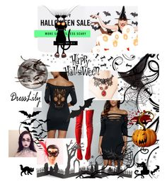 DressLily#10 Halloween Sale by selmazbanic on Polyvore featuring moda, Masquerade, Cape Robbin, Accessorize and Crate and Barrel