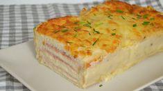Croque cake. pastel de jamón y queso con pan de molde | Comparterecetas.com
