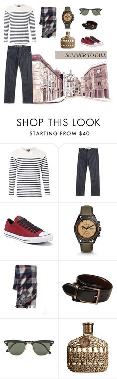 """""""Summer to Fall"""" by kokooo7 on Polyvore featuring Witchery, Vans, Converse, FOSSIL, Gap, Kenneth Cole, Ray-Ban, John Varvatos, men's fashion and menswear"""