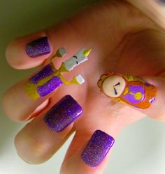 Beauty and the Beast nails
