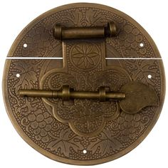 """This hasp makes a perfect finish for a box lid. A hasp in the shape of a mushroom is inscribed with the Chinese character """"fu"""", traditionally painted on one's door for good luck in the New Year. Gentl"""