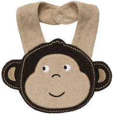 Little Monkey Teething Bib baby boy ($8) found on Polyvore featuring baby