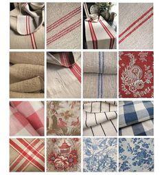 Swedish Fabrics & Decorating Ideas - Natural Fabrics By Antique Vintage European Textiles